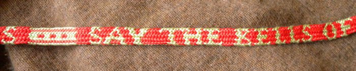 fingerloop braiding, letter braid, alphabet braid, solo braider, multiple braiders