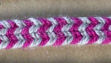 Lace Dawns fingerloop braid