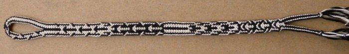 finger loop braiding, 14 loop Spanish braid (letterbraid structure)