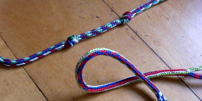 unusual fingerloop braids, 14th Century braids, loop manipulation, early medieval braids,