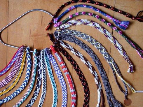 finger loop braiding, 8-Loop Double Braids