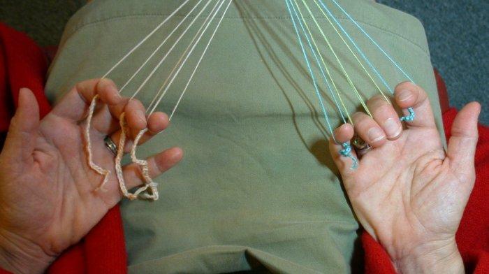 finger loop braiding, extra long lengths, 22-foot braid