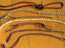 photo of 7 different 3-loop braids