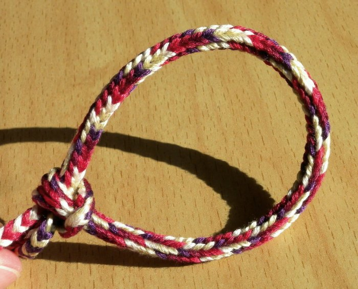 Doug's Braid bracelet - 7-loop round spanish-type loop braid, loopbraider.com