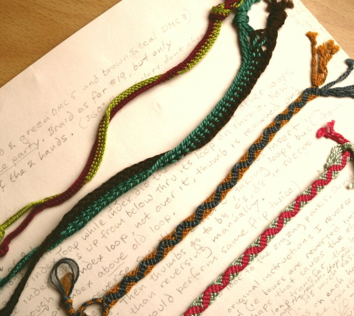 Medieval loop braids: Broad lace party, Lace endented of VIII bowes