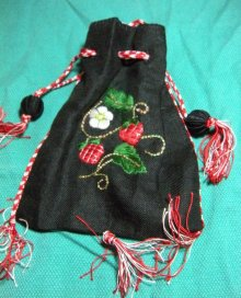 Julie's silk purse with finger loop braids