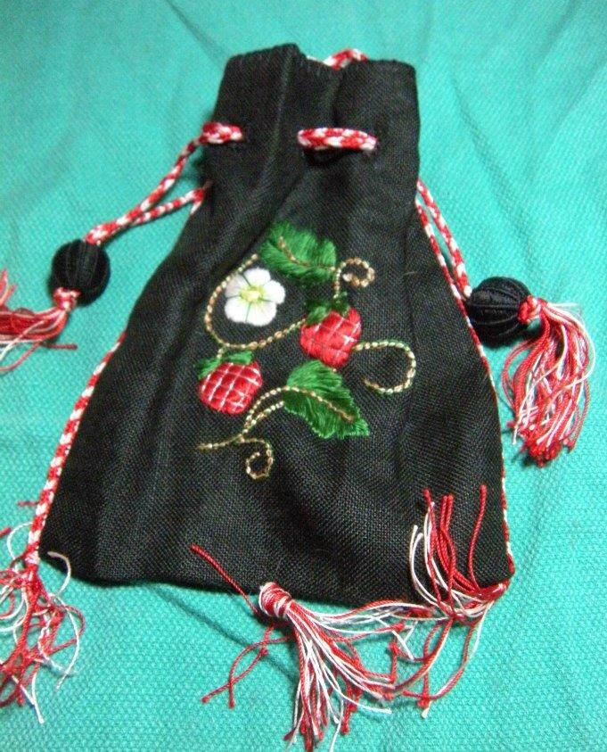 Julie's silk purse with finger loop braids