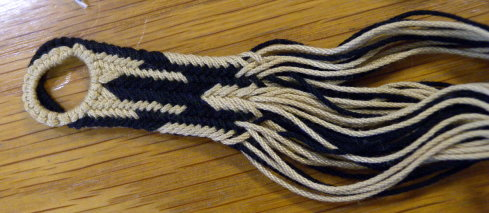 Knotted loop start, kute-uchi braid sample, Joy Boutrup