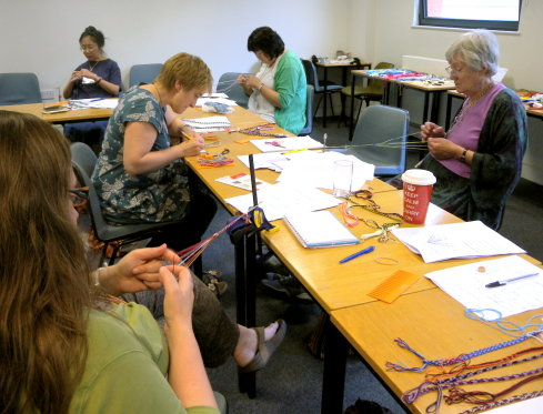 Ingrid Crickmore's Loop braiding class at Braids 2012