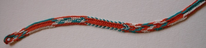 10-loop flat double braid, pattern sampler