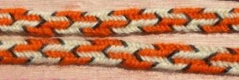 7-loop flat braid, finger loop braiding