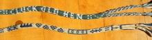 17th Century alphabet braid, letter braid, original variation by Ingrid Crickmore (18 loops rather than traditional braid's 14 loops) , finger loop braiding, loop manipulation