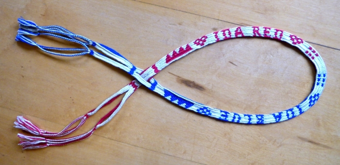 modern variation of a 17th Century charted letter braid.