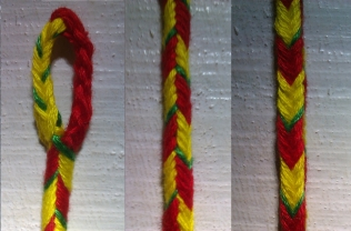 9-loop square braid, by Victoria on the blog Alcarinwe