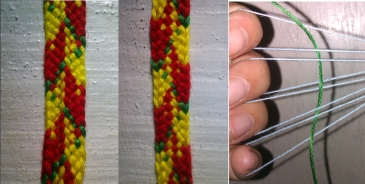 9-loop braid, by Victoria on the blog Alcarinwe