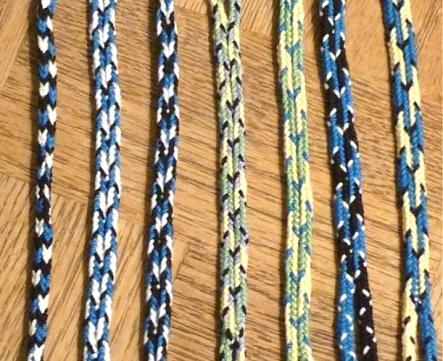 Dan Gaiser, 7-loop Spanish braid color pattern experiments