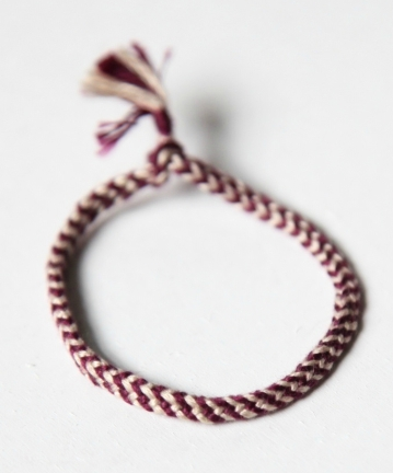 Faustine Ferhmin, 6-loop double braid bracelet.