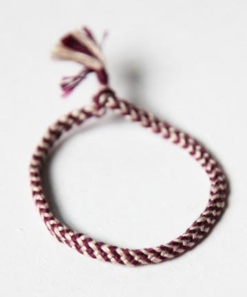 Faustine Ferhmin, 6-loop double braid bracelet.