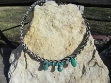Traci Schachette, loop braided necklace (horsehair and beads)