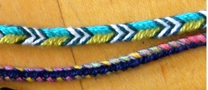 finger loop braids, 9 and 6 loops