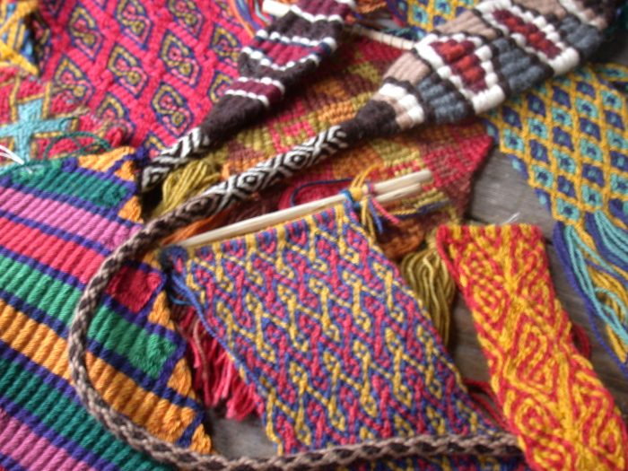 More of Rodrick Owen's Andean flat braid recreations and two slings.