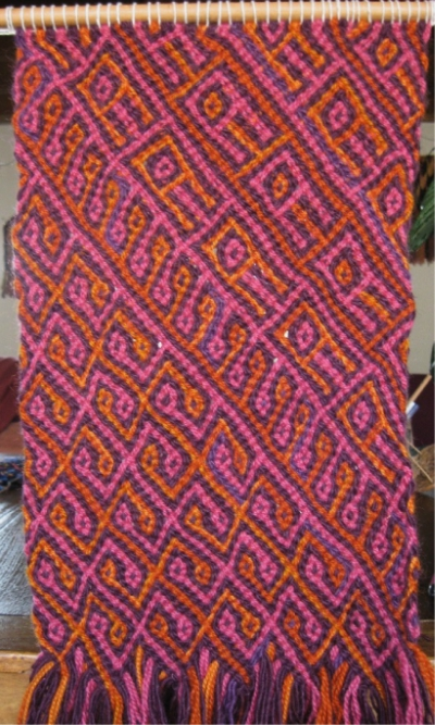 Reproduction of an ancient Andean braid by Nora Rogers