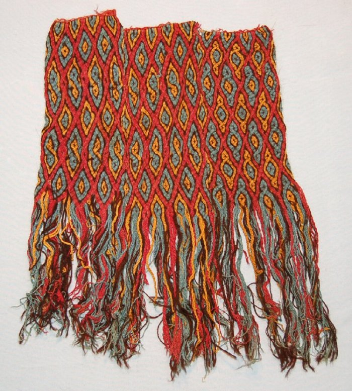 Ancient braided textile, Peru 100BC-600 in British Museum's collections