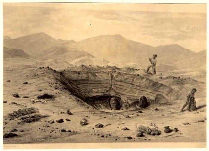 Tomb robbers, Paracas, Peru