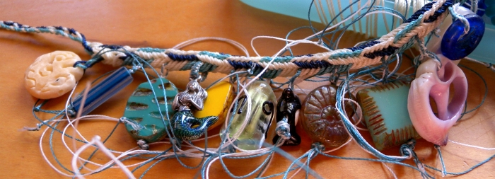 fingerloop braided in-progress charm bracelet