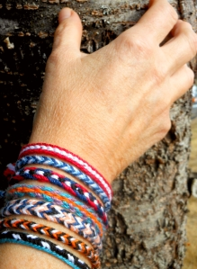 Carolyn's loop braided bracelets