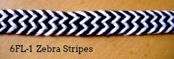 6-loop flat braid 'Zebra stripes' (6FL-1)