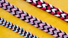 3 6-loop flat braids, pioleW