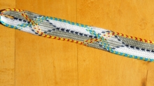 厳島組, Itsukushima braid, 4th try. (ループ指操作組紐技法)