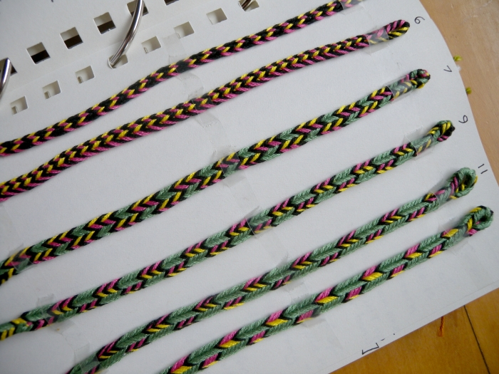 Triangle braids of 5-11 loops