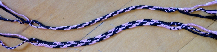 A 3/4-flat and a fully-flat 5-loop flat braid, loopbraider.com
