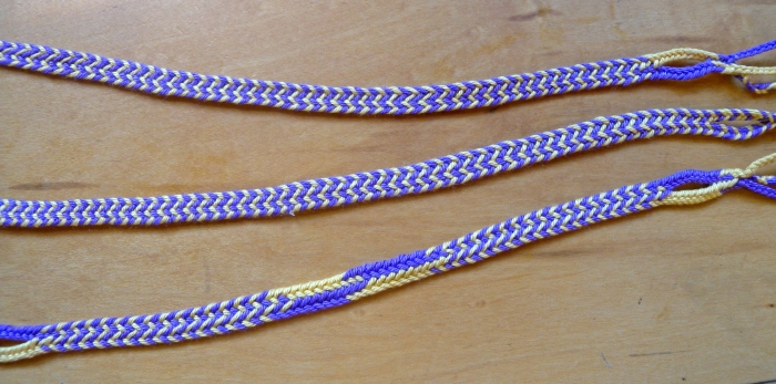 Five-loop braids of (mostly) Alternating Stripes, loopbraider.com