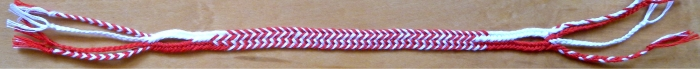 Flat 7-loop bicolor pattern Alternating Stripes, loopbraider.com