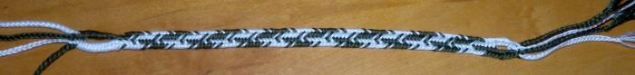 Flat 7-loop bicolor pattern Contrast Stripe, loopbraider.com