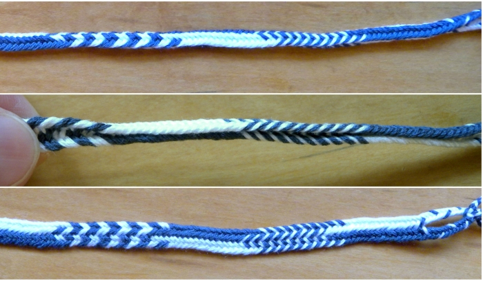 Opening out a 7-loop flat braid, loopbraider.com