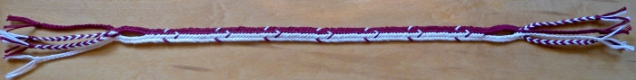 7-loop linked flat braid with combo-pattern of All-Dark-Up & All-but-1-Dark-up, loopbraider.com