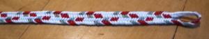 7-loop flat '2-zig-zags' pattern, fingerloop braid, Ingrid Crickmore, loopbraider.com