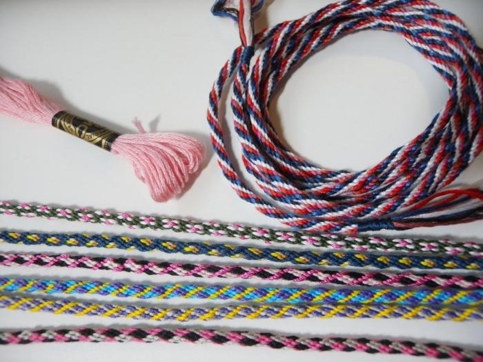 KumiKreator braids, embroidery floss, loopbraider.com