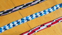 Thumbnail of 12-loop 5-transfer braids, fingerloop, loop braiding