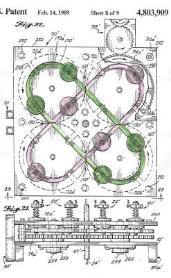 Square braid, machine patent illustration, wikimedia